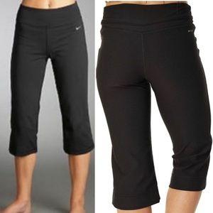 Nike Dri-Fit Black Capri Medium Waist Yoga Pants